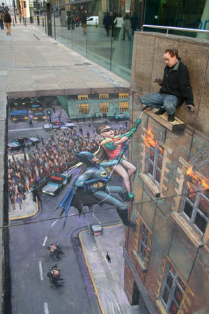 batman-sidewalk-art