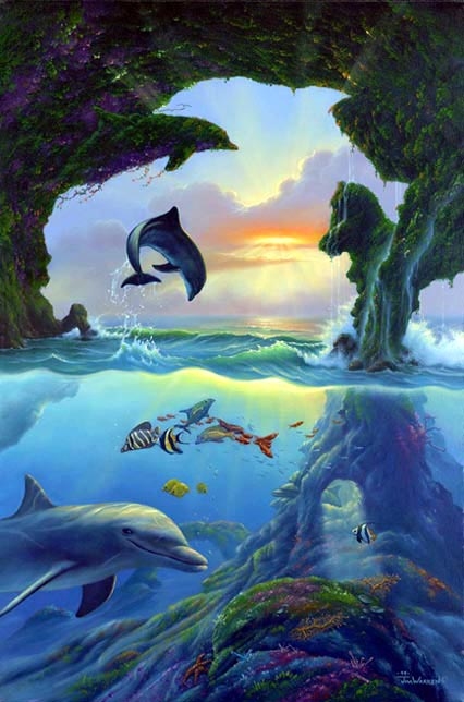 dolphins optical illusion