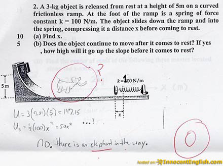 funny test answer