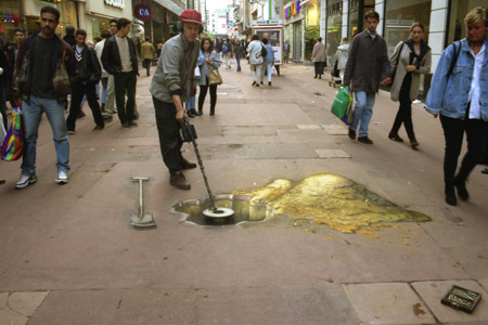 gold-detection-sidewalk-art