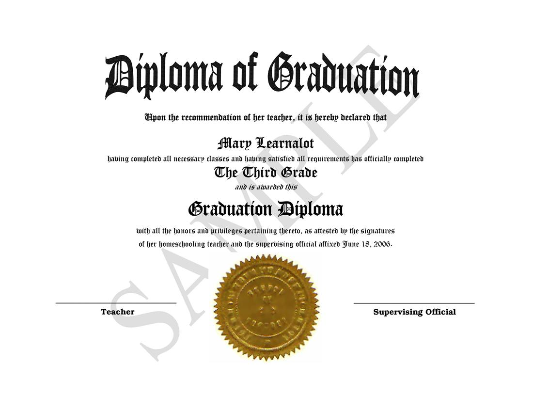 homeschooling diplomas quick easy template for home school – School Certificate Template