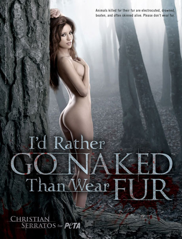 Christian Serratos naked : nude picture for PETA